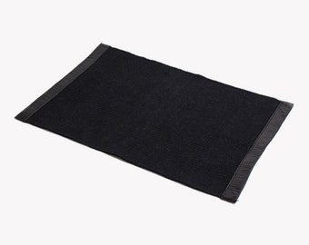 Black Place Mat