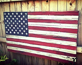 Wood American Flag American Flag  Wooden American Flag Weathered American Flag Barn wood