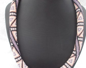 """Beaded Necklace """" geometry"""" is made in delicate colors Decoration necklace"""