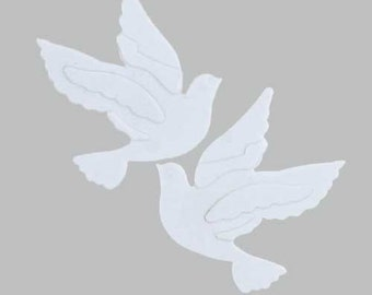Embossed White Doves Confetti for Wedding, Anniversary, Party, 3 Pouches @ 1/2 Ounce each