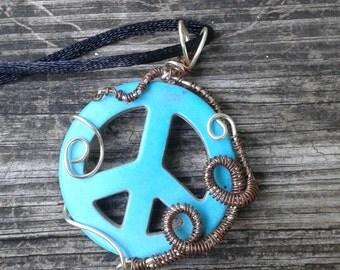Peace sign pendant