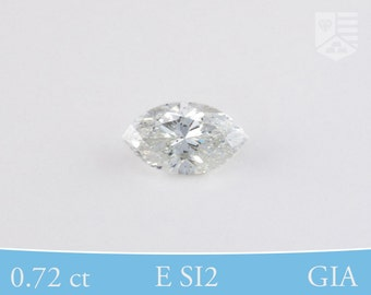Marquise Cut, GIA Certified Diamond, Post-Consumer, E SI2, 0.72 ctw