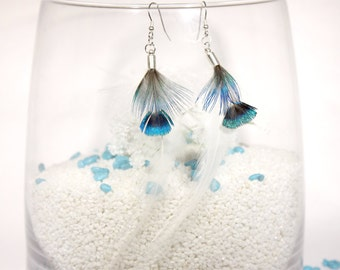 """Feather earrings, """"Fly"""""""