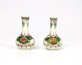 2 Mini pottery vases Decoria Gouda Holland