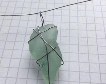 Unique clear glass pendant