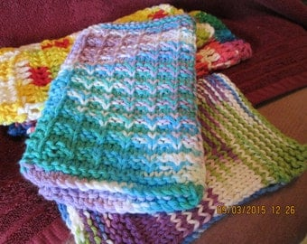 Cotton dishcloths, Sets of Three