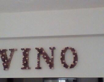 Vino wine cork sign
