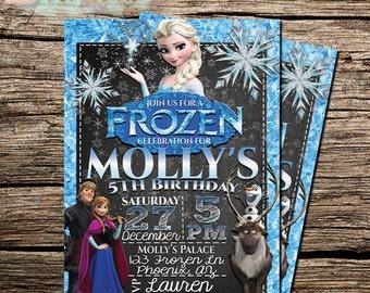 Disney Frozen Invitations | Frozen Birthday Party Ideas | Frozen Invitation Template | Frozen Themed | Invitations for girls and boys