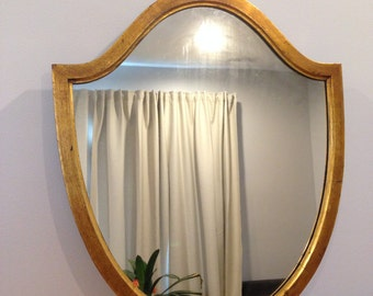 Fine Hanging Mirror with Gilded Frame