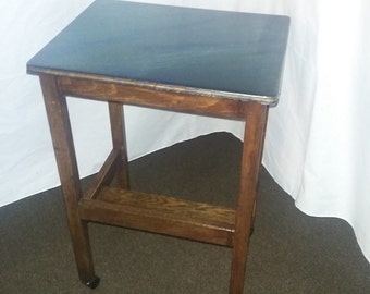 Blue Topped Side Table