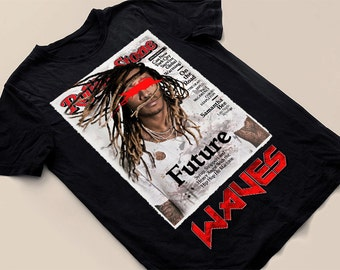Limited Edition vintage/modern rockstar t-shirts, titled Waves, inspired by hip hop star Future...