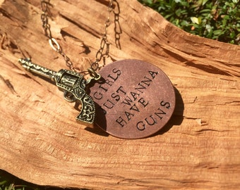 Girls just wanna have fun necklace