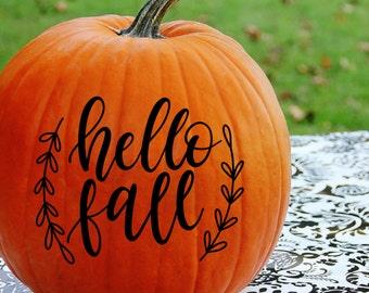 Hello Fall Decal, Happy Fall Ya'll Decal, Happy Fall Yall Decal, Pumpkin Decals, Pumpkin Decorations, Fall Decorations, Fall Decals
