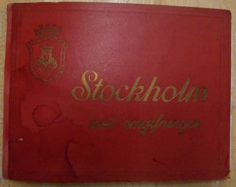 Souvenir Photoplate Book - Stockholm Sweden