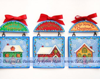 279 Home For the Holidays Decorative Painting Pattern