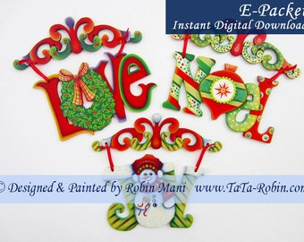 316E E-PACKET Scroll-Top Ornaments Decorative Painting Pattern Digital - Instant Download