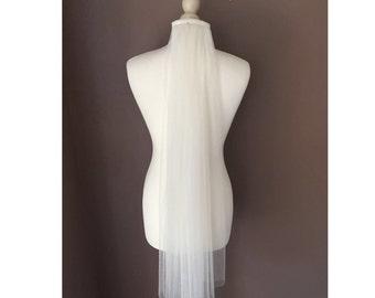 Vita narrow fingertip length silky Italian soft tulle veil