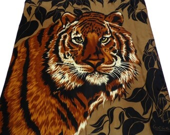beautiful GANT GAITHER SILK vintage animal Scarf with a tiger 100% silk
