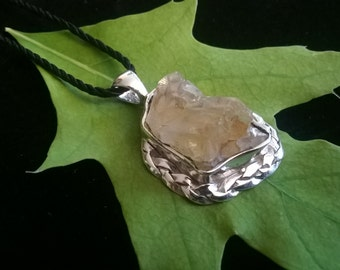 Custom Handmade Colorado Found Smoky Quartz Pendant