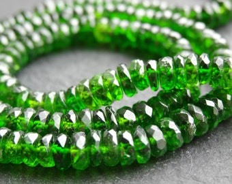 5.2mm Chrome Diopside rondelles, 39cm string, 160 beads (2722)