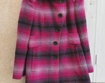 20% OFF!! VINTAGE ESPRIT, women's coats, women's winter coats, esprit collection, wool coats, vintage wool coats, 1990's coats, plaid coats,