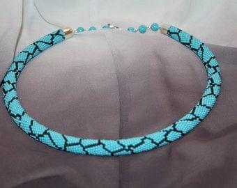 beaded plait Turquoise