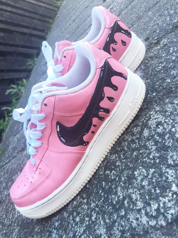 Custom paint job nike air force 1 one paint drip by ...