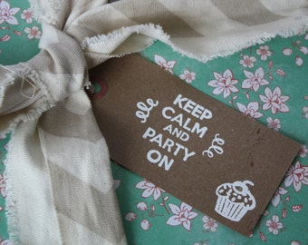 Keep Calm and Party On Gift Tag (Set of 5)