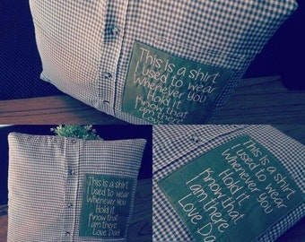 Custom made Remembrance Memory Pillow Cushion Cover Case
