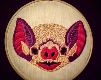 Bat Hand Embroidery