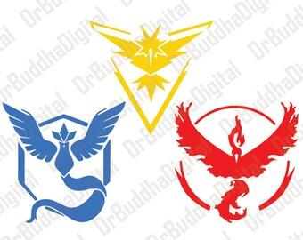Pokemon Go Inspired SVG Collection - Pokemon Go DXF - Pokemon Clipart - Svg Files for Silhouette Cameo or Cricut