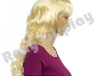 Female Long Platinum Blonde Wig for Mannequin