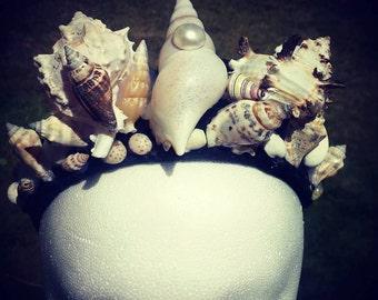 27 Piece Seashell Goddess Crown, Go Big Or Go Home!