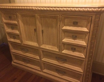Handcrafted Hickory White Cabinet