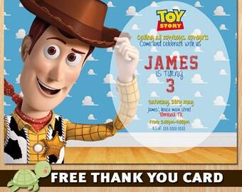 Toy Story Invitation - Toy Story woody Invite - Disney Toy Story Birthday  Invitation Party - woody