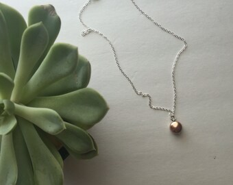Chain coin pearl necklace