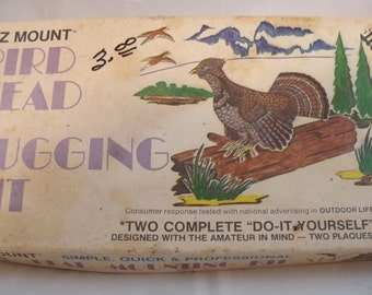 Vintage E-Z Mount Bird Head Mounting Kit Rugging Designed for Amateurs Taxidermy (89)