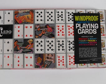 Kling Magnetic Playing Cards with Magnetic Board Steel Windproof Deluxe Model #55    (434)