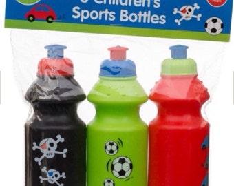 Sports Bottle with Colour Print 12oz 3pk