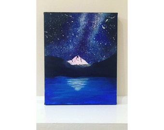 Acrylic Moutain Painting