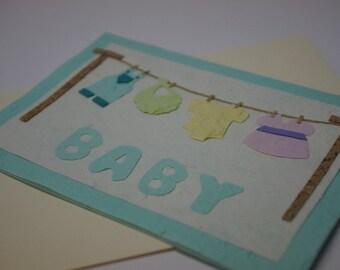 Clothesline Baby Card