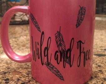 Wild and free ceramic mug