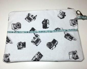 Retro camera Clutch, kindle, tablet, wristlet, organizer, polaroid, land camera, SX-70
