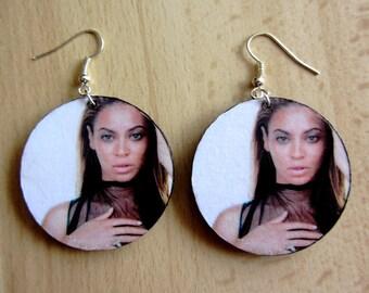 Decoupage Earrings - Beyonce