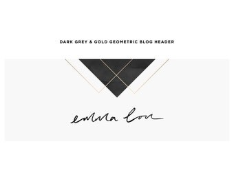Blog Header Design / Premade Background with Custom Hand Lettered Logo