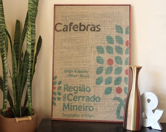 Framed Cafebras Burlap Coffee Bag | Burlap | Coffee | Coffee Lover