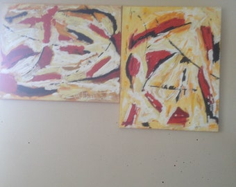abstract painting unique original acrylic