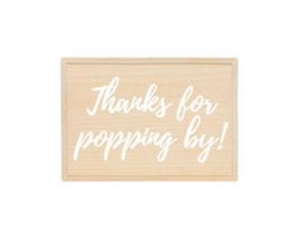 Custom Popcorn Sign
