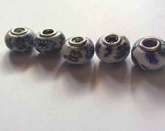 European beads / murano beads / flower beads / white beads / rubber beads / beads