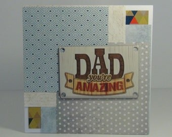 Hand Made Birthday Card for Dad